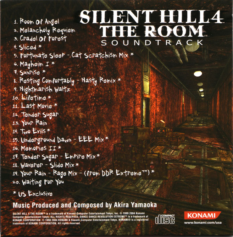Silent Hill 4 The Room Limited Edition Soundtrack Mp3 Download Silent Hill 4 The Room Limited Edition Soundtrack Soundtracks For Free